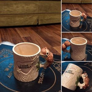 🦋2/$10 3/$15 4/$18 5/$20 Vintage Owl Grandma Mug